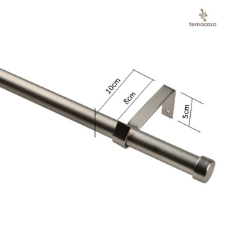 Barral Extensible Acero Cortina Ventana 1,2 A 2,20m
