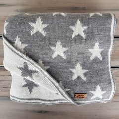 MANTITA REVERSIBLE STARS GRIS Y NATURAL 105x80 CM en internet