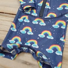 TRAJE DE BAÑO - ENTERITO UV - BLUE RAINBOW en internet