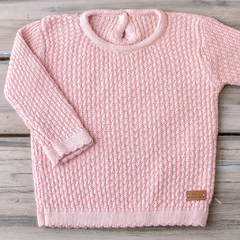 SWEATER PUNTO ARROZ ROSA PASTEL