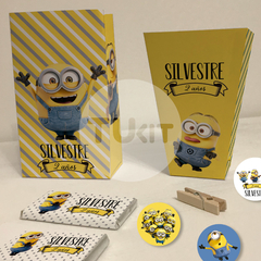 Kit imprimible minions minion candy bar tukit - comprar online