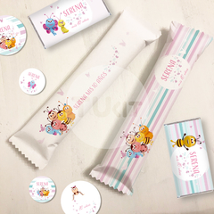 Kit imprimible bichikids colores pasteles candy bar tukit - comprar online