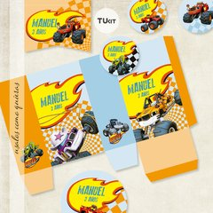 Kit Imprimible DECO Monster Machines TuKit - comprar online