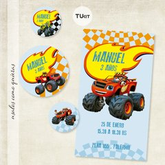 Kit Imprimible DECO Monster Machines TuKit - TuKit