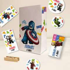 Kit imprimible lego avengers superheroes tukit en internet