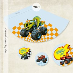 Kit Imprimible DECO Monster Machines TuKit en internet