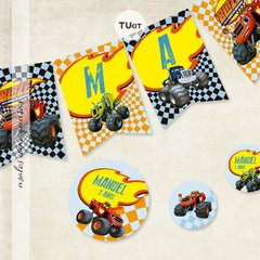 Kit Imprimible DECO Monster Machines TuKit - tienda online