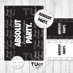Kit Imprimible Personalizado Absolut Vodka Candy Bar TuKit en internet