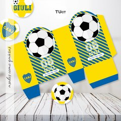 Kit Imprimible Futbol Boca Juniors Candy bar