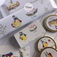 Kit Imprimible Princesa Blancanieves Candy Bar TuKit - TuKit