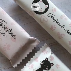 Imagen de Kit Imprimible Gatitos Cats Flores Candy Bar TuKit