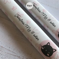 Kit Imprimible Gatitos Cats Flores Candy Bar TuKit - comprar online