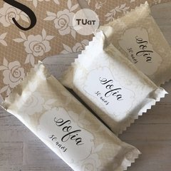 Kit Imprimible Beige Blanco Lace Candy Bar TuKit - comprar online