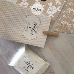 Kit Imprimible Beige Blanco Lace Candy Bar TuKit - TuKit