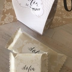 Imagen de Kit Imprimible Beige Blanco Lace Candy Bar TuKit