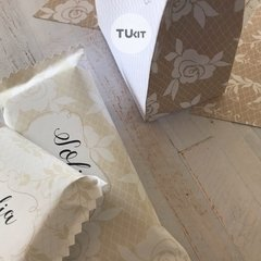 Kit Imprimible Beige Blanco Lace Candy Bar TuKit