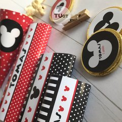 Kit imprimible mickey mouse rojo y negro candy bar en internet