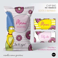 Chips bags bolsita golosinera imprimible marge simpson tukit