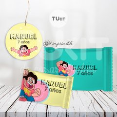 Kit Imprimible Steven Universe Candy Bar Cumpleaños TuKit