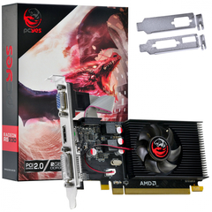 Placa de Vídeo AMD Radeon R5 230 2GB DDR3 64 Bits Low Profile com Kit Incluso - PJR230RLP