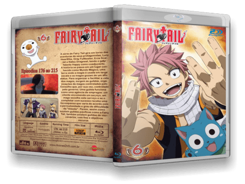 Fairy Tail TV 2 em Blu Ray Cover