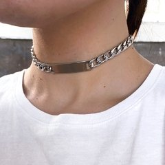 SILVER HIGH END CHOKER - TRASH GANG COLLECTION
