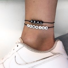 CUSTOM CANDY BLACK OR WHITE BRACELET / ANKLET (personalizable)