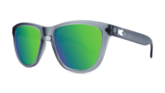 Óculos de sol Knockaround Premiums - Frosted Grey / Green Moonshine na internet