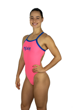 Maiô Fit - Nixie Swim Pink & Blue na internet