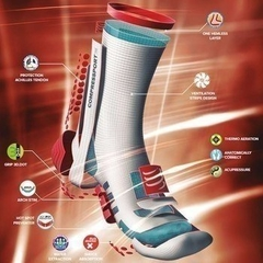 MEIA COMPRESSPORT PRO RACING SOCKS V3.0 TRAIL CINZA - TRI Designs