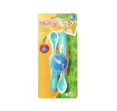 Cucharas largas - cambian de color con la temperatura x2 unidades. Nuby. - From Beirut