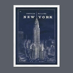 Imagen de Blueprint Map New York Chrysler Building