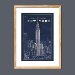 Blueprint Map New York Chrysler Building
