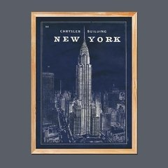 Blueprint Map New York Chrysler Building - comprar online