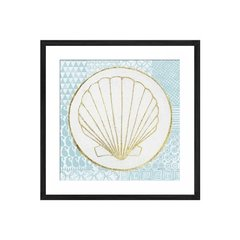 Summer Shells IV Teal and Gold - Sur Arte Shop - Láminas y Cuadros