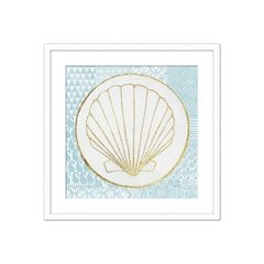 Imagen de Summer Shells IV Teal and Gold