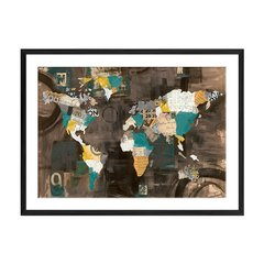 Golden World on Brown - Sur Arte Shop - Láminas y Cuadros