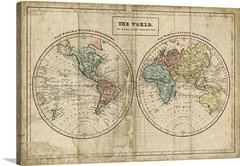 Old World Eastern Western Map
