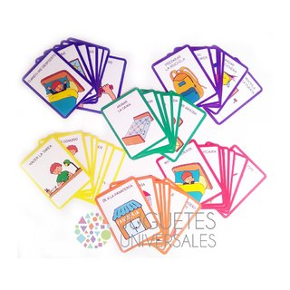 Cartas con pictogramas - secuencias