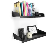Estante Flotante Fit Pared Chapa Libros Deco Tienda Pepino