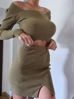 Sweater Top Amy Escote Cuadrado