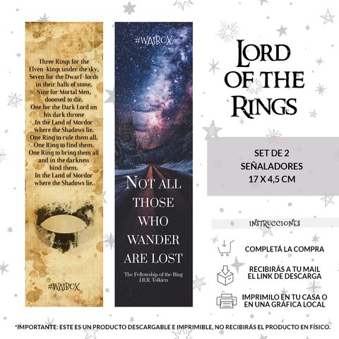 Set Señalador Lord of the Rings