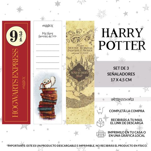 Set Señalador Harry Potter