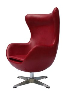 Sillon Egg Jacobsen Rojo - INTEGRAL DECO