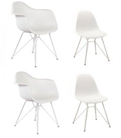 Pack 2 Sillones Eames New Design+ 2 Sillas Eames New Design