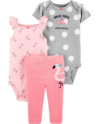conjunto carters body regata flamingo