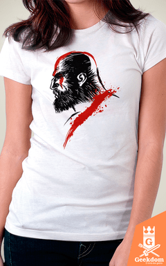 Camiseta God of War - God Face - by Albertocubatas | Geekdom Store | www.geekdomstore.com