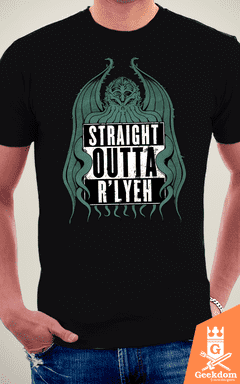 Camiseta Straight Outta R'lyeh - by Pigboom na internet