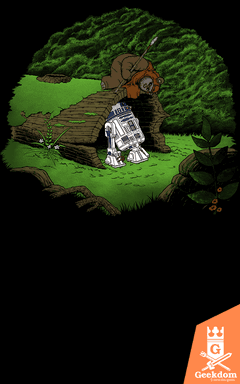 Camiseta Ursinho Ewok e o Droid - by Pigboom