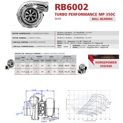 Turbo Master Power Rodamiento RB6002/2 350 640HP Competición